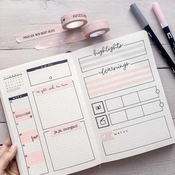 Bullet journal simple planner inspiration