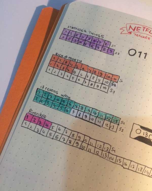Dot matrix planner notebook