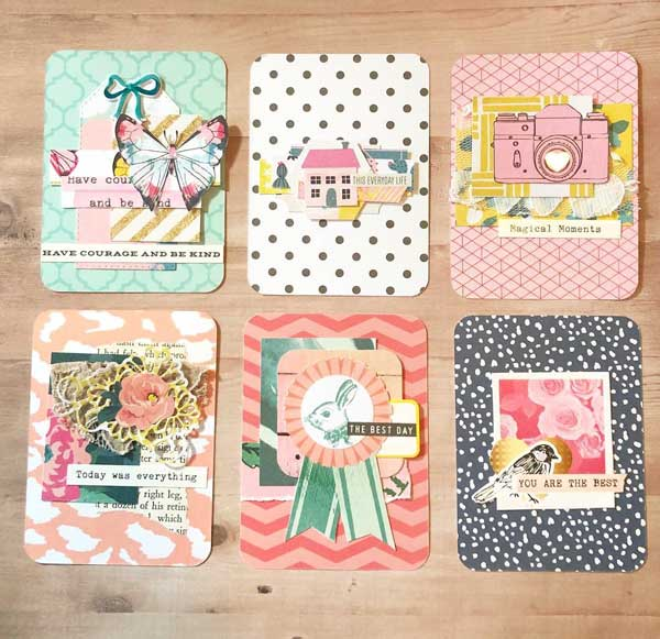 Journaling cards from scraps