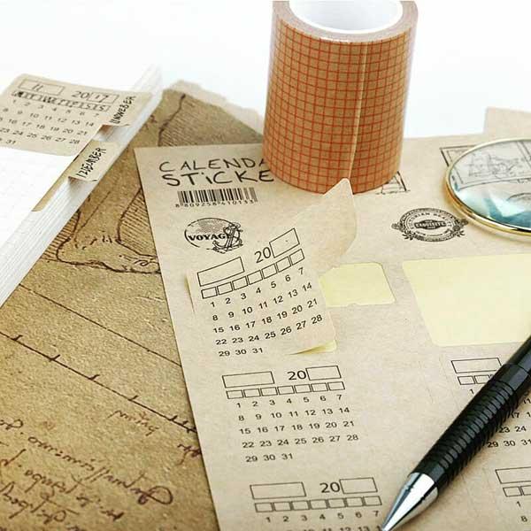 Bujo calendar stickers