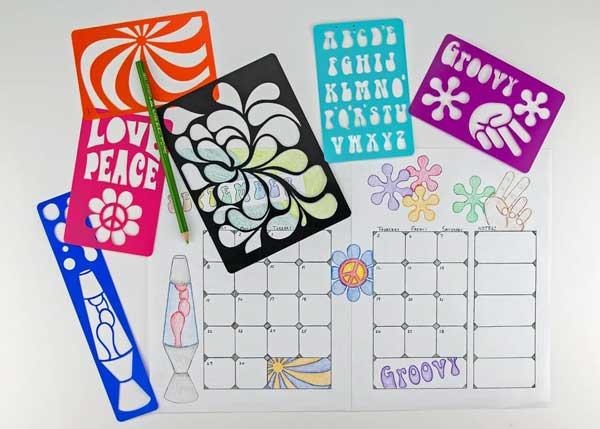 Bullet journal stencils