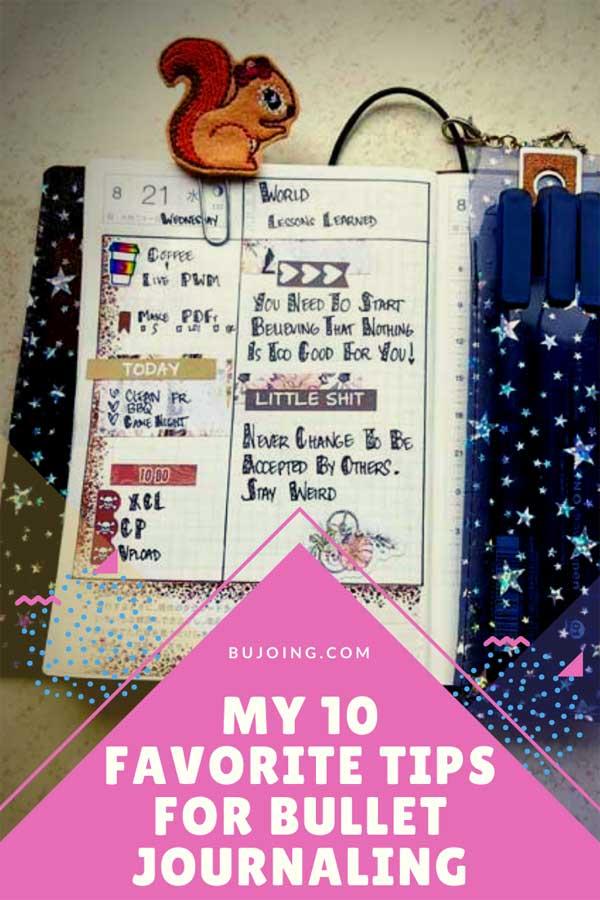 Bullet journaling tips