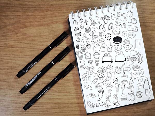 Food doodles or Foodles